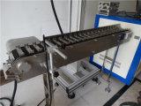Flying High Precision láser de fibra del sistema con dispositivo de transporte Marcado
