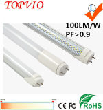 100lm/W 1200mm 1800 VW T8 de aluminio de tubo LED 18W
