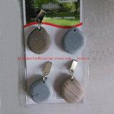 O jogo do grampo quatro no pano de tabela cinzento do seixo torna mais pesados o acessório ao ar livre do jardim/pesos de pedra de pano de tabela