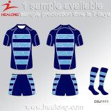 Spätestes Entwurfs-Rugby-Jersey-runde Stutzen-Sportkleidung