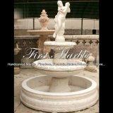 Fontaine blanche de Carrare pour la décoration à la maison Mf-1016