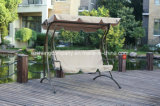 Silla del patio de oscilación de lujo con el amortiguador