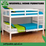 白いカラー固体マツ木学校の二段ベッドの家具