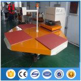 Prensa térmica automática máquina Pneumtic estaciones de cuatro equipos de impresión por sublimación