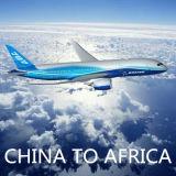 Carga del envío del aire de China a Entebbe/a Kampala, reflujo, África