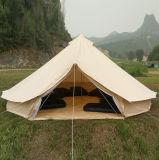 tenda di Bell di campeggio del cotone di 3m 4m 5m della famiglia impermeabile 6m della tela di canapa con il foro per il tubo della stufa