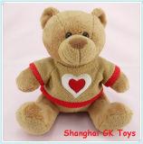 Urso de peluche do Valentim Urso de peluche bonito com pano