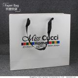 Saco de compra de papel personalizado com papel recicl