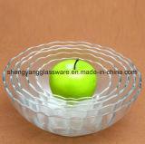 Bacia de vidro transparente de boa qualidade/bacia da salada/bacia de fruta para a mobília da cozinha
