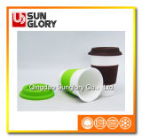 Reforçar a caneca da porcelana com caixa do silicone e a tampa de Lkb003