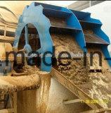 Equipo que se lava de la arena, lavadora de la arena de la silicona, planta que se lava de la arena móvil