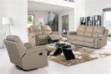 El sofá de la sala de estar con el sofá moderno del cuero genuino fijó (716)