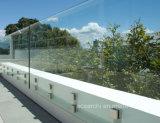 Полно балюстрада Tempered стекла заплаты Frameless приспосабливая/Railing тупика стеклянный