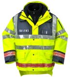 Workwear riflettente di sicurezza del nastro di Oxford del poliestere dell'impermeabile