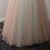 Nach Maß Applique, der Fußboden-Längen-Abend-Kleid bördelt