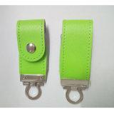 在庫(カラー緑)の革USBのフラッシュ駆動機構8GB 500PCS