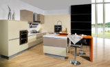 Gabinete de cozinha lustroso elevado do MDF do acrílico (zv-007)