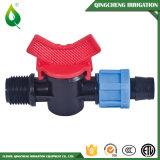 Vávula de bola plástica del PVC de la regadera de Driptape de la irrigación