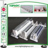 Het acryl Systeem van de Opdringer van de Plank van de Fles van het Sap voor de Gondel van de Supermarkt