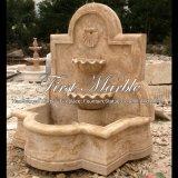 Fontaine de mur antique de travertin pour la décoration à la maison Mf-247