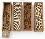 Casella di legno rettangolare della penna con le decorazioni di Inlaiding