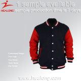 Healong любые логотипы Custom зимой покрыть Baseball Jacket