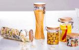 ガラスはステンレス鋼のバックルのふたが付いている瓶の蜂蜜の瓶の蝋燭の瓶をピクルスにする