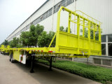 China Price 2 Axle Flat Bed Semitrailers for Shipping Container