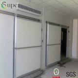 肉のためのスライダのドアが付いている通りがかりの建物の低温貯蔵部屋