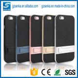 SamsungギャラクシーS7/S7端カバーのためのカーボンファイバーの電話Kickstandのケース