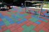 Estera de goma del jardín de la infancia, azulejo de goma del patio, estera antifatiga