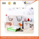 Umweltfreundlicher Zoll gedruckter Papierhandelsgeschenk-Beutel mit Griff