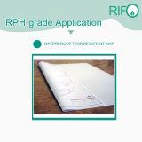 Rph-400 resistente al agua de superficie mate BOPP película sintética con MSDS