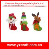 Décoration de Noël (ZY14Y160-1-2-3) Hiver chaussette de Noël Christmas Charms