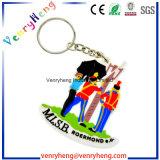 Guangzhou fabrica o silicone personalizado Keychain com Emoji