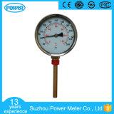 termometro bimetallico generale di caso di 100mm del collegamento d'acciaio nero della parte inferiore