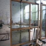 يفتح داخليّة مزدوجة زجاجيّة ألومنيوم نابذة خشبيّة