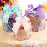Caixa coreana dos doces do estilo dos produtos encantadores do casamento, caixa transparente com indicador, caixa dos doces dos doces para o aniversário