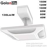 LED de alta potencia industrial de la luz de dosel de la estación de gas 60W 80W 100W 120W 150W.