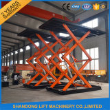 Garagem Scissor Lift máquina de elevação de tesoura hidráulica para venda