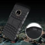 Caja del teléfono del híbrido PC+TPU Kickstand para Moto G5 más