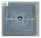 Cubierta de boca del hierro 300X300 y marco dúctiles B125