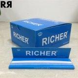 Un papel de balanceo de encargo blanco de encargo más rico del cigarrillo de la marca de fábrica 13GSM con extremidades de filtro