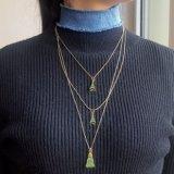 Tegenhangers Blauw Jean Choker Necklace Set van de Halsbanden van de Toren van Eiffel de Geometrische