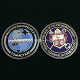 Изготовленный на заказ значок Coins Officer Metal военной полиции с Gold Finish