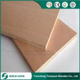 madeira compensada comercial de madeira vermelha de 1220mm*2440mm*15mm