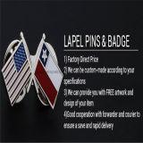 La bandierina personalizzata di figura del distintivo del metallo di marchio appunta il cittadino del distintivo dello smalto
