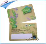 Cartão de impressão do cartão de PVC transparente