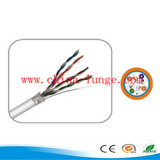 Conductor de cobre 24 AWG / CE, RoHS aprobó Red / UTP Cat5e Cable