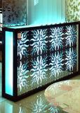 Art en verre de guichet de porte de choc de peinture Tempered de construction d'art de configuration décoratif
